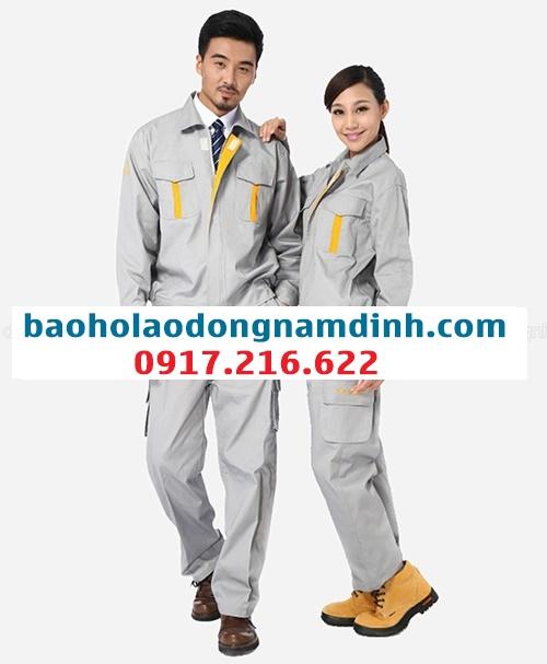Quần áo bảo hộ lao động màu kem